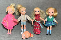 Vintage Dolly Darlings Mini Dolls Head Lot Hasbro Mattel Parts Repair Blonde