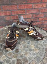 Tsubo Size 8.5 Cream Brown Orange Gray Cream Lace Up Oxford Tennis Shoes Trainer