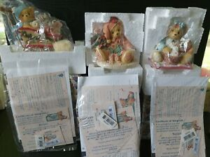 Cherished Teddies 533769 Annette 533785 Suzanne 533807 Brian Christmas Bears...