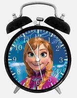 "Disney Frozen Anna Alarm Desk Clock 3.75"" Home Office Decor W473 Nice For Gift"
