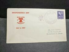 USS CONSOLATION AH-15 Naval Cover 1947 INDEPENDENCE DAY Cachet Fancy Cancel
