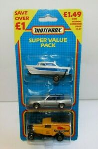 Matchbox Superfast MB-858 Super Value Pac with Mercedes Seafire & Model A Van