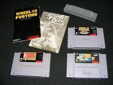Super Nintendo video games Scooby Doo Wheel of Fortune ZELDA A Link to the Past