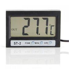 LCD Interieur exterieur Thermometre numerique Horloge avec deux capteurs  WT