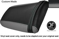 Negro y Gris Vinilo personalizado para Honda CBR 900 RR Fireblade 93-99 Trasero Seat Cover