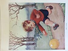 m17a1 ephemera 1920s book plate the chase boy and ball topham