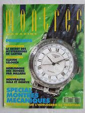 MONTRES magazine N° 12 /Spécial montres mécaniques/Claude Lelouch/