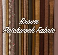 Brown Chocolate Mixed Patterned Floral + Blender 100% Cotton Patchwork Fabric