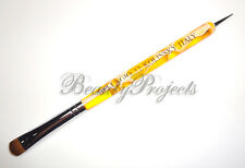 Nail Art Kolinsky French Brush #12 with Dotting Pen High Quality - Yellow Marble