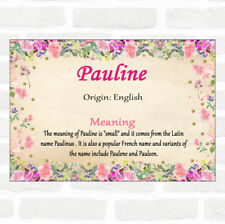 Pauline Name Meaning Floral Certificate