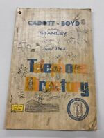 1964 April Cadott-Boyd Stanley WISCONSIN TELEPHONE BOOK DIRECTORY WI