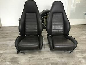 Porsche Sport Seats (1980s) - Two Factory Seats - Brown Leather - 911, 930, 944