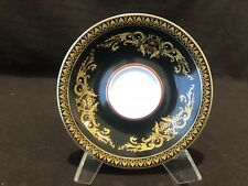 "Rosenthal Versace Medusa Black Saucer Plate 5 3/4"" Diameter Sold Individually"