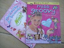 LOT DE 2 MAGAZINES OU REVUES POUR FILLES - MISS GROOVY - SECRETS DE BEAUTE WINX
