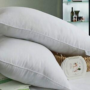 King Size Pillows 47cm x 90cm Luxury Hotel Quality Microfibre / Pillowcases