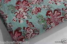By Yard Hand Block Print Cotton Fabric Pure Handmade Print Fabric Soft Fabric 88