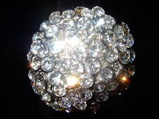DIVA COCKTAIL CLEAR  ROUND CLUSTER  RHINESTONE RING AJUSTABLE SIZES