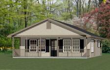 28x32 House -- PDF Floor Plan -- 848 sq ft -- Model 2K