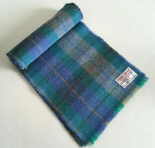HARRIS TWEED BRIGHT COLOURFUL WOOL CHECK SCARF MAN WOMAN