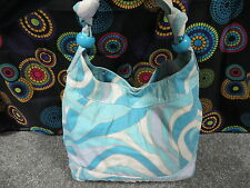 Multi-Color Swirl Design Extra Large Shoulder/Tote Bag w/Ring & Knotted Strap