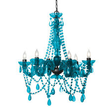 Three Cheers For Girls! 3C4G 6 Light Chandelier Lamp Turquoise Blue