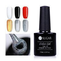7.5ml UR SUGAR Classic Color Coat Nail Art UV Gel Polish Black White Red Silver