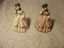 2 Vintage Florence Ceramics Statue With Gold Trimming