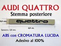 AUDI QUATTRO FOUR A3 A4 A5 A6 A7 S TT RS Stemma Badge Logo Fregio Emblem Scritta