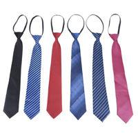 Fashion Business Lazy Zipper Neck Ties Men's Groom Neckties Collar AccessorKRFS