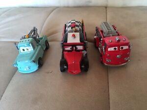 Disney Pixar Cars Diecast Lot Rare Mayday Retro Mater Firetruck Red
