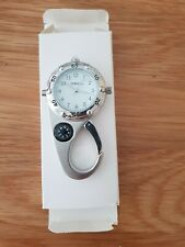 Timesco Carabinor clip on nurses fob watch BN