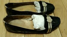 Coach Poppy Noelle Heart Buckle Black Patent Leather Loafer Flat Moccasins 8