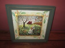 Original Carol Endres Signed Numbered Folk Art Print Picture Woman & Cats