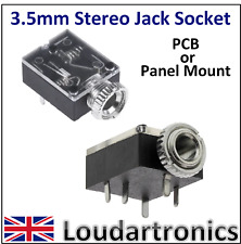 3.5mm Stereo Jack  Socket PCB or Panel Mount
