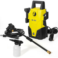 1300 PSI 1.2 GPM Power Water Electric Pressure Washer Kit w/ Hose Detergent Tank