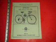 JA548 Vintage 1972 Miami Sun Bicycle Supply Co Wholesale Price List Cycling