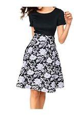 Ashley Brooke Damenkleider mit Rundhals-Ausschnitt aus Polyester