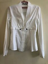 Gucci Women White Cotton Blouse Shirt with corset detail Size EU40/UK8 (LOU)
