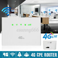 3G/4G-CPE LTE Wireless WiFi Router 300Mbps Mobile Hotspot Modem SIM 32 Users