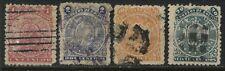 Bolivia 1893 1, 2, 10, & 20 centavos used(JD)