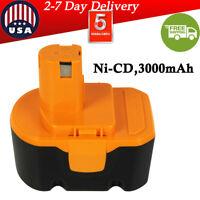 for Ryobi 14.4V Battery 130224010 130224011 30281002 Ni-MH 3.0AH HP1441 1314702