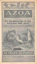 "Parke, Davis & Co Adv Poster Style Pc For ""Azoa"" Rodent Killer 1903-06"