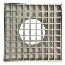 Holman PVC STORM GRATE WITH SILVER INSERT 90mm Suits Indoor & Outdoor *AUS Brand
