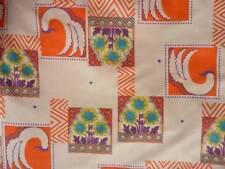 Novelty funky retro orange print light weight fabric