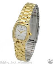 LTP-1169N-7A Casio Beige dial in Gold case Stainless Steel Watch Ladies Date