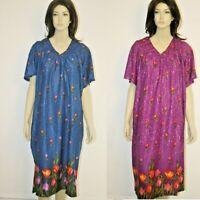 Women's Nightgown MuMu House Dress Plus Size 1X 2X 3X 4X
