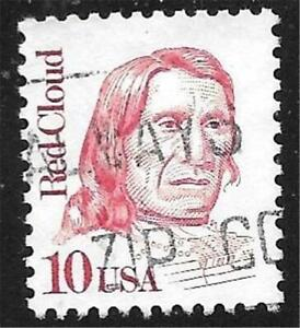 1v0508 Scott 2175 US Stamp 1987 10c Red Cloud Used Great American Series