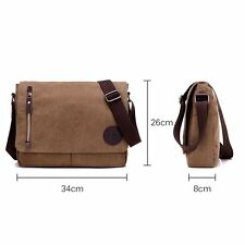 Brown Canvas Messenger Shoulder Bag for 14 Inch Laptop and tablets