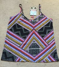 Boohoo Aztec Printed Cami  Vest T-shirt Top Uk 6 BNWT