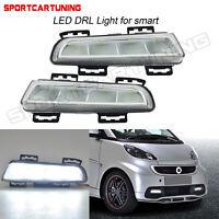 For 12-14 Smart Fortwo 451 Front Bumper Led Daytime Running Light Fog Lamp 12V